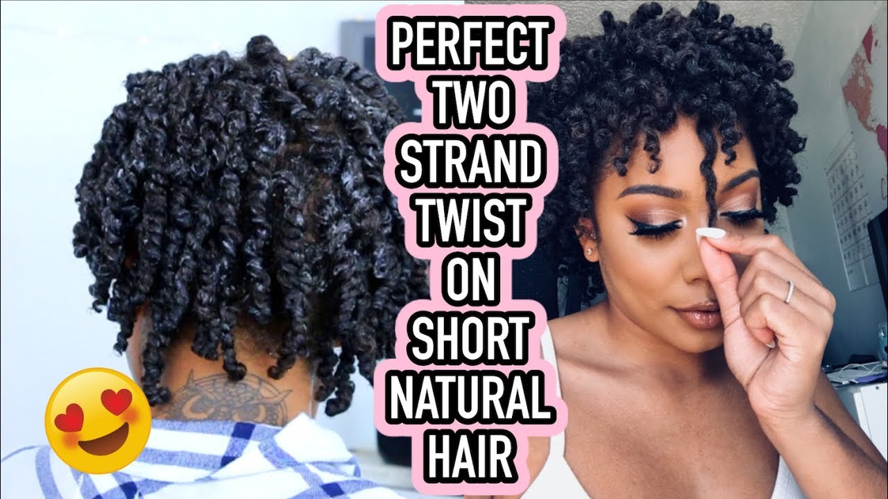 Perfect Two Strand Twists On Short Natural Hair Adore Natural Me