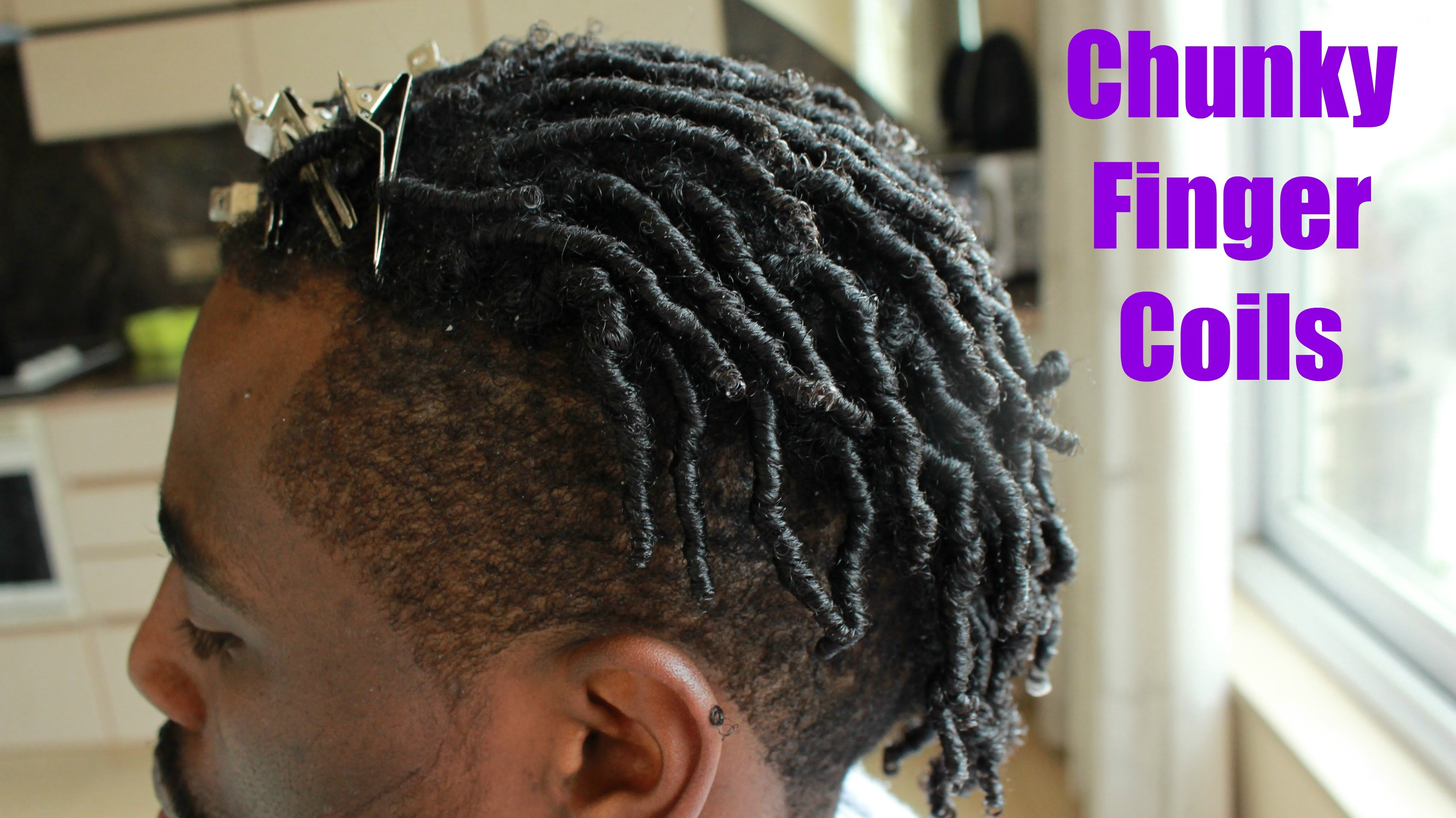 Peachy Men Hair How To Do Chunky Finger Coils Tutorial Adore Natural Me Natural Hairstyles Runnerswayorg
