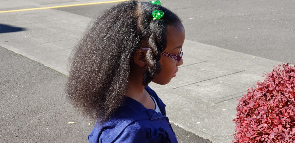 girl standing outside