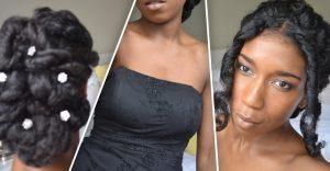 natural Classic Prom and Wedding Updo adorenaturalme.com