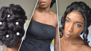 natural Classic Prom and Wedding Updo adorenaturalme.com
